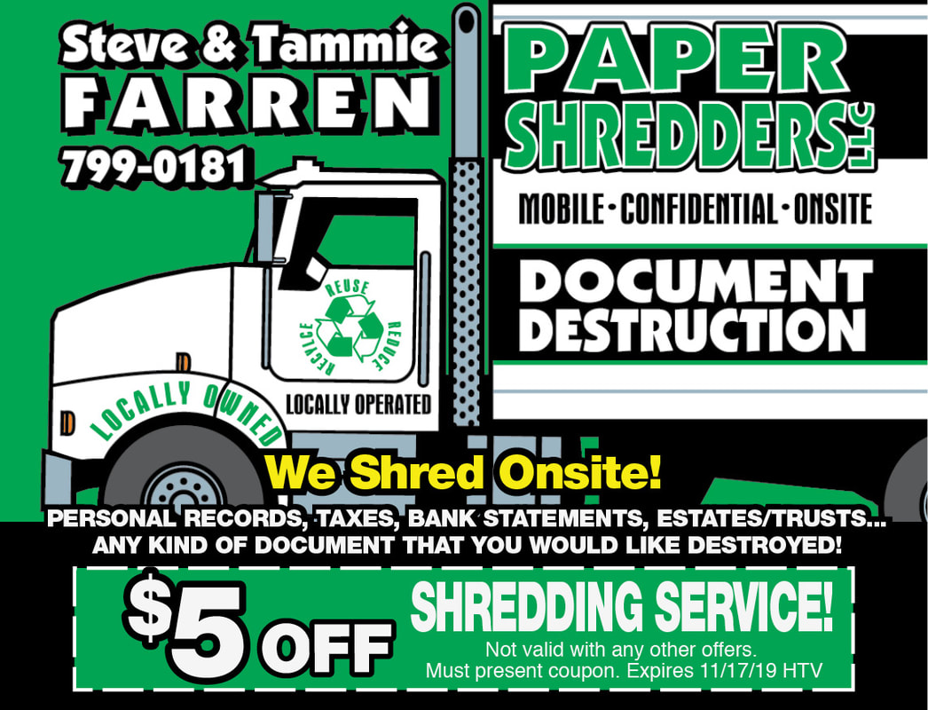 Paper Shredding Coupons - Great Falls Hometown Values Coupon